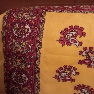 Accessories - Bright Yellow with Red Designs Scarf